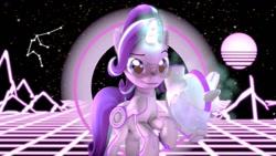 Size: 1192x670 | Tagged: safe, artist:alicorntwilysparkle, starlight glimmer (mlp), equine, fictional species, mammal, pony, unicorn, feral, disney, friendship is magic, hasbro, my little pony, crossover, cyberpunk, female, futuristic, glasses, helmet, mare, solo, solo female, tron