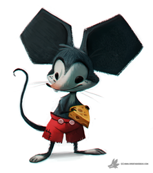 Size: 800x899 | Tagged: safe, artist:cryptid-creations, mickey mouse (disney), mammal, mouse, rodent, anthro, disney, bottomwear, cheese, clothes, holding object, male, pants, solo, solo male