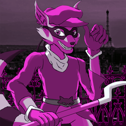Size: 800x800 | Tagged: safe, artist:crimson-soul16, sly cooper (sly cooper), mammal, procyonid, raccoon, anthro, sly cooper (series), male, solo, solo male