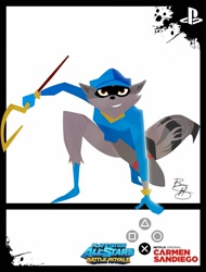 Size: 1024x1348 | Tagged: safe, artist:xeternalflamebryx, sly cooper (sly cooper), mammal, procyonid, raccoon, anthro, plantigrade anthro, sly cooper (series), carmen sandiego (series), crossover, male, solo, solo male