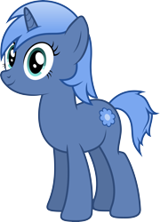 Size: 5000x6954 | Tagged: safe, artist:djdavid98, oc, oc only, oc:paamayim nekudotayim, equine, fictional species, mammal, pony, unicorn, friendship is magic, my little pony, absurd resolution, alpha channel, blue fur, blue hair, cutie mark, cyan eyes, female, feral, fur, hair, hooves, horn, simple background, solo, solo female, tail, transparent background, vector