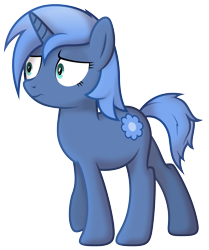 Size: 3490x4180 | Tagged: safe, artist:djdavid98, oc, oc only, oc:paamayim nekudotayim, equine, fictional species, mammal, pony, unicorn, friendship is magic, my little pony, absurd resolution, alpha channel, blue fur, blue hair, cutie mark, cyan eyes, female, feral, fur, hair, hooves, horn, shading, shading practice, simple background, soft shading, solo, solo female, tail, transparent background, vector