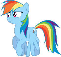 Size: 8317x7795 | Tagged: safe, artist:djdavid98, artist:embersatdawn, rainbow dash (mlp), equine, fictional species, mammal, pegasus, pony, friendship is magic, my little pony, .ai available, .svg available, absurd resolution, blue fur, cutie mark, female, feral, flying, fur, hair, hooves, magenta eyes, rainbow hair, simple background, solo, solo female, tail, transparent background, vector, wings