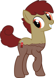 Size: 5683x8235 | Tagged: safe, artist:djdavid98, artist:sofunnyguy, oc, oc only, oc:coke pony, equine, fictional species, food pony, mammal, pony, friendship is magic, my little pony, .ai available, .svg available, absurd resolution, coca cola, cutie mark, female, feral, hair, hooves, orange eyes, raised leg, red hair, simple background, solo, solo female, tail, teeth, transparent background, transparent body, vector