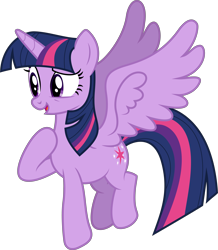 Size: 7165x8200 | Tagged: safe, artist:djdavid98, artist:uxyd, twilight sparkle (mlp), alicorn, equine, fictional species, mammal, pony, friendship is magic, my little pony, .ai available, .svg available, absurd resolution, blue hair, cutie mark, female, feral, flying, fur, hair, hooves, horn, open mouth, purple eyes, purple fur, simple background, solo, solo female, spread wings, tail, transparent background, vector, wings