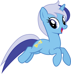 Size: 5000x5220 | Tagged: safe, artist:djdavid98, artist:hawk9mm, minuette (mlp), equine, fictional species, mammal, pony, unicorn, friendship is magic, my little pony, .ai available, .svg available, absurd resolution, blue eyes, blue fur, blue hair, cutie mark, female, feral, fur, hair, hooves, horn, jumping, open mouth, simple background, solo, solo female, tail, transparent background, vector