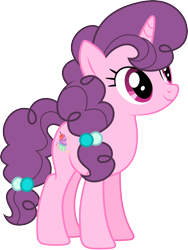 Size: 4000x5328 | Tagged: safe, artist:djdavid98, artist:lahirien, sugar belle (mlp), equine, fictional species, mammal, pony, unicorn, friendship is magic, my little pony, .ai available, .svg available, cute, cutie mark, female, feral, fur, hair, hooves, horn, looking up, magenta eyes, pink fur, purple hair, simple background, solo, solo female, tail, transparent background, vector
