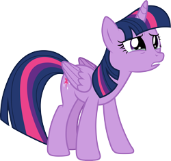 Size: 4249x4000 | Tagged: safe, artist:djdavid98, twilight sparkle (mlp), alicorn, equine, fictional species, mammal, pony, friendship is magic, my little pony, .ai available, .svg available, absurd resolution, angry, blue hair, crying, female, feral, fur, hooves, horn, leaning forward, purple eyes, purple fur, sad, simple background, solo, solo female, tail, teary eyes, teeth, transparent background, vector, wings