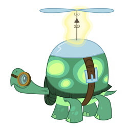 Size: 3500x3500 | Tagged: safe, artist:djdavid98, tank (mlp), reptile, tortoise, friendship is magic, my little pony, .ai available, black eyes, feral, goggles, magic, male, simple background, solo, solo male, tail, transparent background, vector