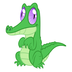 Size: 3500x3500 | Tagged: safe, artist:djdavid98, gummy (mlp), alligator, crocodilian, reptile, friendship is magic, my little pony, .ai available, .svg available, feral, male, purple eyes, scales, simple background, sitting, solo, solo male, standing, tail, transparent background, vector