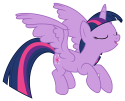Size: 4944x4000 | Tagged: safe, artist:djdavid98, twilight sparkle (mlp), alicorn, equine, fictional species, mammal, pony, friendship is magic, my little pony, .ai available, .svg available, blue hair, cutie mark, eyes closed, female, feral, flying, fur, hooves, horn, open mouth, purple fur, simple background, solo, solo female, spread wings, tail, transparent background, vector, wings
