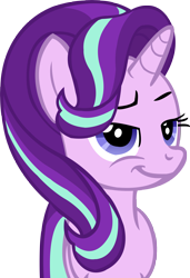Size: 3423x5000 | Tagged: safe, artist:wcctnoam, starlight glimmer (mlp), equine, fictional species, mammal, pony, unicorn, friendship is magic, my little pony, absurd resolution, female, feral, horn, manebooru exclusive, mare, simple background, smug, solo, solo female, tail, transparent background, vector