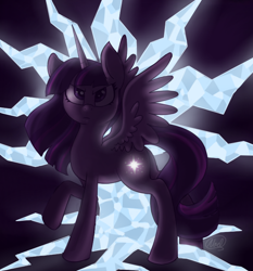 Size: 700x750 | Tagged: safe, artist:staleelephantbones, twilight sparkle (mlp), alicorn, equine, fictional species, mammal, pony, friendship is magic, my little pony, feathered wings, feathers, female, feral, horn, mare, signature, solo, solo female, tail, twilight sparkle (alicorn), wings
