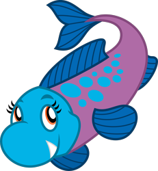 Size: 4000x4328 | Tagged: safe, artist:melisareb, oc, oc only, fish, .svg available, absurd resolution, clairev, female, feral, klara viskova, sharp teeth, simple background, solo, solo female, tail, teeth, transparent background, vector