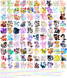 Size: 1038x1200   Tagged: character needed, species needed, safe, artist:raystarkitty, oc, oc only, oc:andi (blshbkr), oc:celeste (sproutlette), oc:dollie (raystarkitty), oc:flan (raystarkitty), oc:honeydew (raystarkitty), oc:jitters (raystarkitty), oc:kayno (kaynopup), oc:kissy (doekiis), oc:lillie (candytheotter), oc:miami (thunderclanhero), oc:perseus (sproutlette), oc:pfeffer (raystarkitty), oc:sweetheart (plushydog), oc:tricker (torikkatreat), oc:twinkie (raystarkitty), angel, animate object, arthropod, bat, bear, big cat, bird, bovid, brushtail possum, canine, cat, cattle, cervid, cow, deer, dinosaur, dog, dragon, dutch angel dragon, eevee, eeveelution, elk, equine, feline, fictional species, fish, flareon, fox, furred dragon, giraffe, hamster, hybrid, insect, koala, ladybug, lagomorph, lion, mammal, marsupial, monkey, panda, pegasus, pikachu, plush dragon, pony, possum, primate, procyonid, rabbit, raccoon, raccoon dog, red panda, reptile, rodent, shark, sheep, squirrel, sugar glider, thylacine, tiger, toucan, unicorn, western dragon, anthro, digitigrade anthro, feral, plantigrade anthro, semi-anthro, series:raystarkitty's charms, care bears, friendship is magic, hasbro, my little pony, nintendo, pokémon, 2020, ambiguous gender, bandage, bell, blood, bottomwear, bow, cherry blossoms, clothes, collar, commission, female, flag, gay pride flag, group, hair bow, halo, hat, headphones, heterochromia, hoodie, horns, inflatable toy, jacket, jeans, large group, leaf, male, mask, mismatched shoes, multiple tails, neck bow, neckerchief, necktie, overalls, pants, paw pads, paws, pikacat, plushie, pouch, pride flag, ram, ripped jeans, scarf, shirt, shoes, sitting, spines, tail, tail wraps, topwear, wall of tags, wings, worm on a string, wraps
