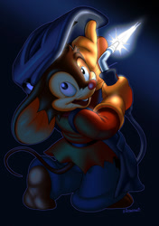 Size: 850x1204 | Tagged: safe, artist:is, fievel mousekewitz (an american tail), mammal, mouse, rodent, anthro, an american tail, sullivan bluth studios, brown body, brown fur, fur, looking at you, male, solo, solo male, young