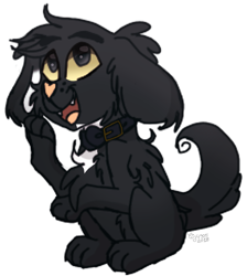 Size: 1093x1220 | Tagged: safe, artist:tizhonolulu, oc, oc only, canine, dog, mammal, feral, male, solo, solo male