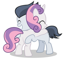 Size: 1280x1176 | Tagged: safe, artist:lunaticdawn, rumble (mlp), sweetie belle (mlp), equine, mammal, pony, friendship is magic, hasbro, my little pony