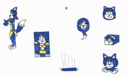 Size: 1935x1174 | Tagged: safe, artist:spaton37, krystal (star fox), canine, fictional species, fox, goomba (mario), mammal, monster, anthro, feral, mario (series), nintendo, star fox, ball, barefoot, cube, disk, female, flattened, goombafied, morph ball, not salmon, solo, solo female, tail, traditional art, transformation, vixen, wat