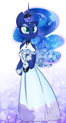 Size: 782x1455   Tagged: safe, artist:theluckyangel, princess luna (mlp), alicorn, equine, fictional species, mammal, pony, anthro, friendship is magic, hasbro, my little pony, female, solo, solo female