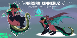 Size: 2000x1000   Tagged: invalid tag, safe, artist:marykimer, oc, dragon, fictional species, reptile, anthro, feral, female, flat color, fursona, reference sheet