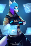 Size: 2204x3277 | Tagged: character needed, safe, artist:syncbanned, oc, oc only, anthro, female, solo, solo female
