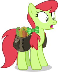 Size: 7296x9083 | Tagged: safe, artist:thatusualguy06, earth pony, equine, fictional species, mammal, pony, feral, friendship is magic, hasbro, my little pony, .svg available, absurd resolution, female, mare, open mouth, peachy sweet (mlp), saddle bag, shocked, shrunken pupils, simple background, solo, solo female, transparent background, vector