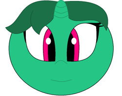 Size: 884x695   Tagged: safe, artist:animeartistmii, fizzy (mlp), equine, fictional species, mammal, pony, unicorn, ambiguous form, hasbro, my little pony, my little pony (g1), ball, female, horn, mare, morph ball, solo, solo female